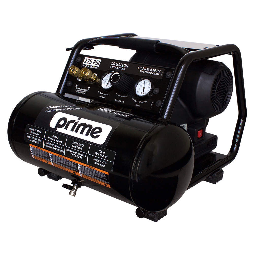PRIME 1.7 HP 4 GAL SINGLE TANK PORTABLE COMPRESSOR