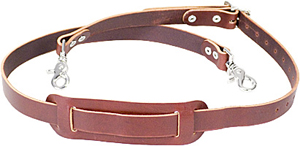 ALL LEATHER SHOULDER STRAP