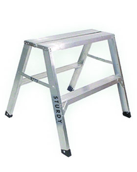 STURDY LADDER 140 SERIES  inchFLAT-TOP inch ALUMINUM SAWHORSE