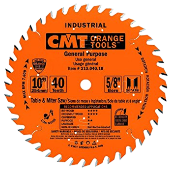 10 inch 40T GENERAL PURPOSE SAW BLADE