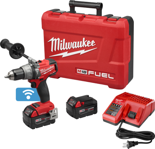 MILWAUKEE M18 FUEL™ WITH ONE-KEY™ 1/2 inch HAMMER DRILL / DRIVER KIT