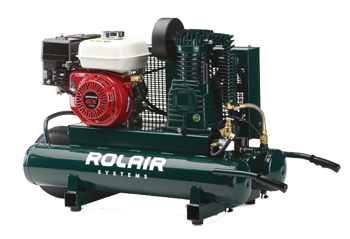 ROLAIR 163CC 5.5HP GAS PORTABLE BELT DRIVE AIR COMPRESSOR
