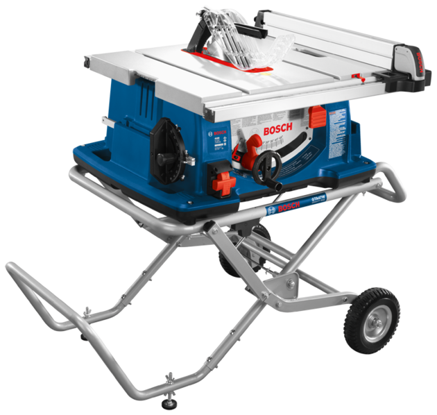 BOSCH 10 inch WORKSITE TABLE SAW WIITH GRAVITY-RISE WHEELED STAND