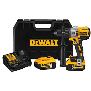 DEWALT 20V MAX* XR® LITHIUM ION BRUSHLESS 3-SPEED HAMMERDRILL KIT