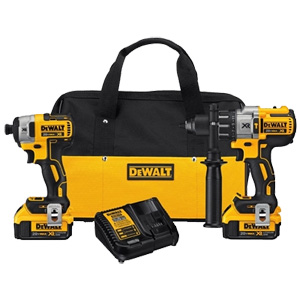 DEWALT 20V MAX* XR® LITHIUM ION BRUSHLESS PREMIUM 2-TOOL COMBO KIT (4.0AH)