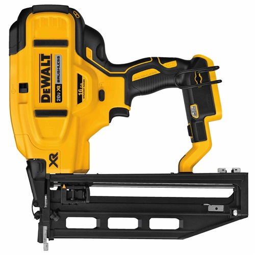 DEWALT 20V MAX* XR® 16 GA CORDLESS STRAIGHT FINISH NAILER (BARE TOOL)
