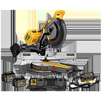 DEWALT FLEXVOLT® 12 inch 120V* MAX DOUBLE BEVEL COMPOUND SLIDING MITER SAW KIT