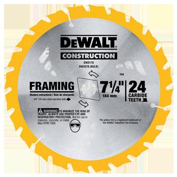 DEWALT 7-1/4 inch 24T CIRCULAR SAW BLADE