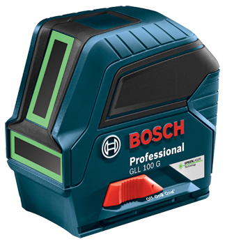 BOSCH GREEN-BEAM SELF-LEVELING CROSS-LINE LASER