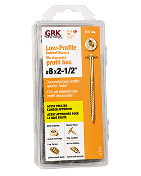 GRK - LOW PROFILE CABINET SCREW