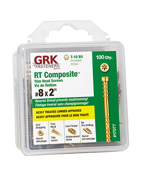 GRK - RT COMPOSITE TRIM HEAD SCREW