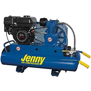 JENNY 5.5 HP GAS PORTABLE TWIN TANK AIR COMPRESSOR