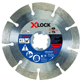BOSCH X-LOCK 4-1/2 inch PREMIUM SEGMENTED DIAMOND BLADE