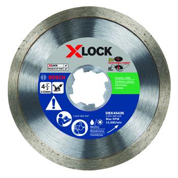 BOSCH X-LOCK 4-1/2 inch CONTINUOUS RIM DIAMOND BLADE