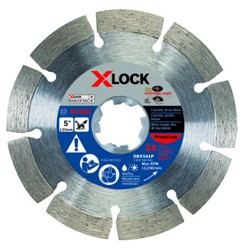 BOSCH X-LOCK 5 inch PREMIUM SEGMENTED DIAMOND BLADE