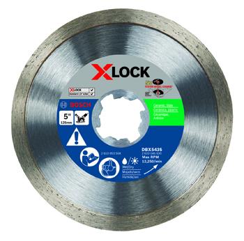 BOSCH X-LOCK 5 inch CONTINUOUS RIM DIAMOND BLADE