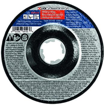 BOSCH X-LOCK 4-1/2 inch TYPE 27 30 GRIT MASONARY GRINDING ABRASIVE WHEEL