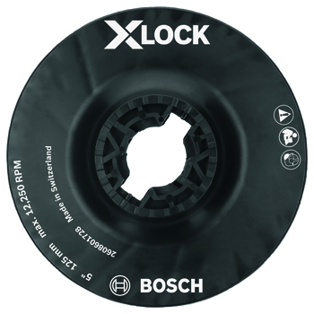 BOSCH X-LOCK 5 inch BACKING PAD WITH X-LOCK CLIP - MEDIUM HARDNESS