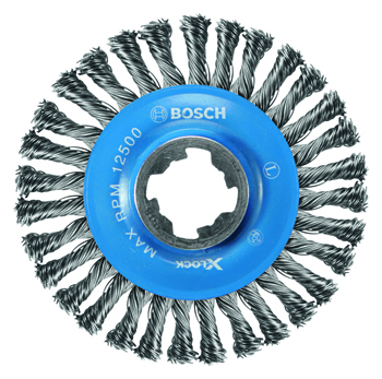 BOSCH X-LOCK 4-1/2 inch TEMPERED STEEL CRIMPED WIRE WHEEL