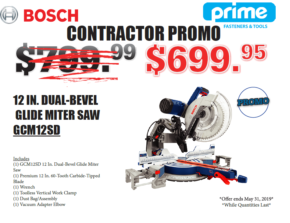 "Bosch - 12"" Dual-Bevel Glide Miter Saw (GCM12SD)"