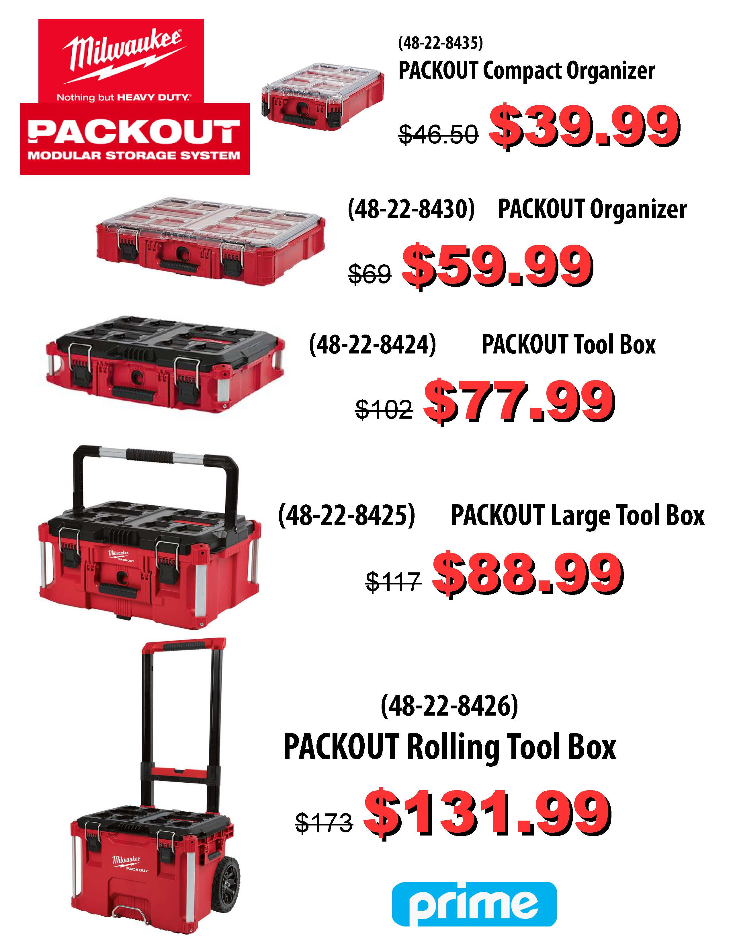Milwaukee Packout Sale!